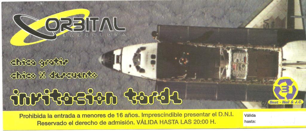 Flyer Orbtial Barcelona Abril 1998