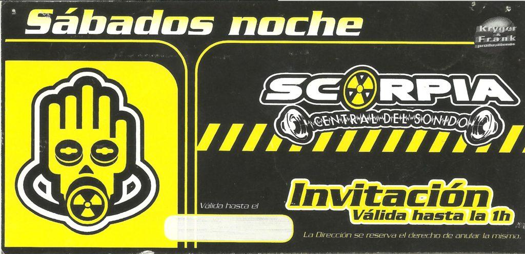 Flyer discoteca Scorpia