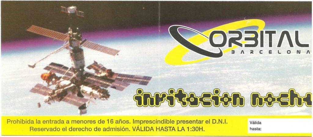 Flyer Orbital Barcelona Febrero 1998