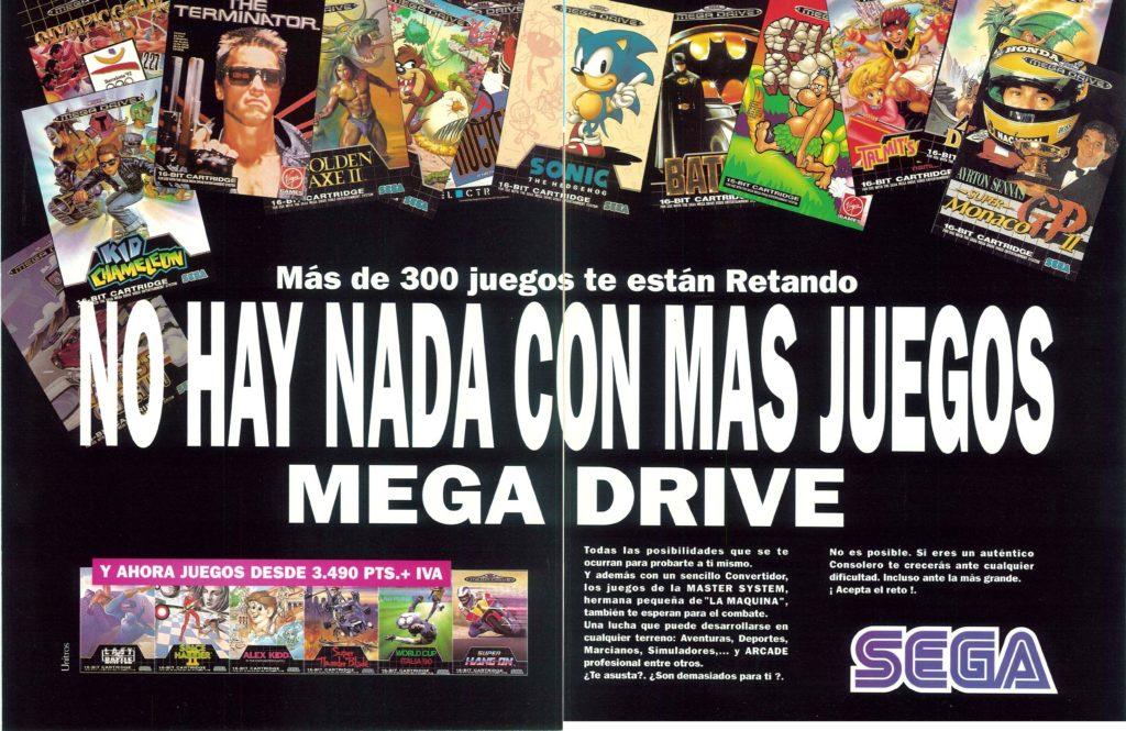 Publicidad de la epoca de Megadrive - Sega