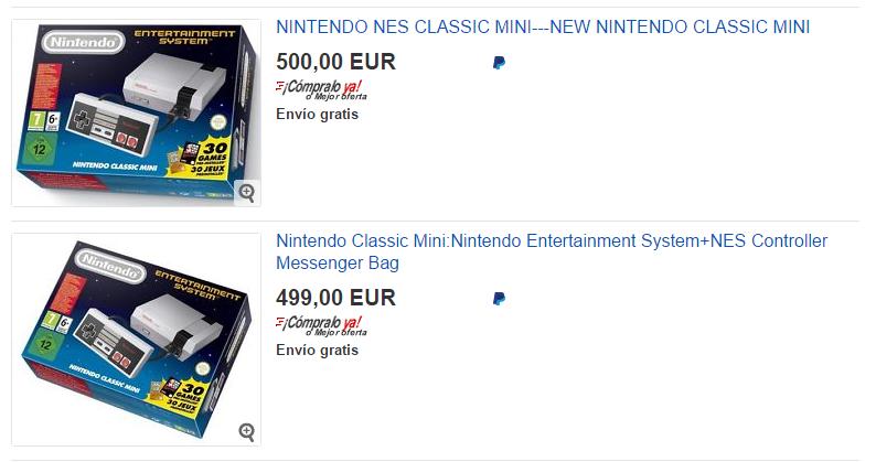 Nes mini en venta en Ebay