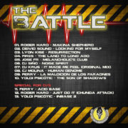 "Tracklist Trasera CD Makineros ""The Battle"""