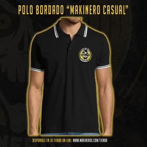 POLO BORDADO MAKINEROS 90 CASUAL MAKINERO