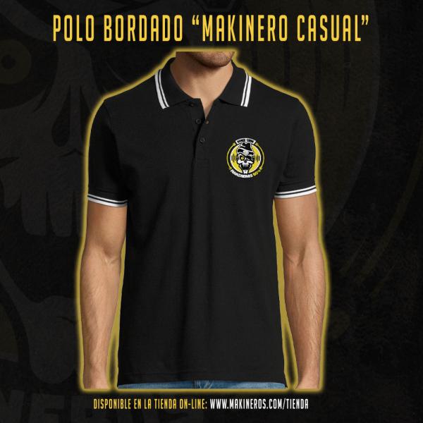 POLO BORDADO MAKINEROS 90 CASUAL MAKINERO