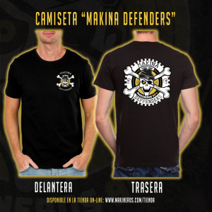 camiseta makina defenders makineros 90 CUAD
