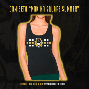 camiseta chica makina square summer tirantes makineros 90