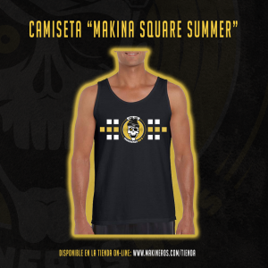camiseta chico makina square summer makineros 90