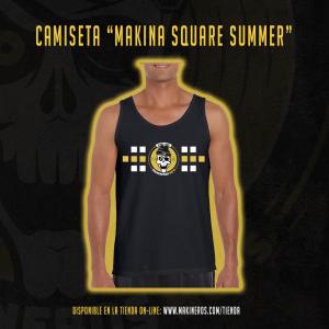 camiseta chico makina square summer makineros 90