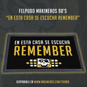 felpudo alfombrilla remember makineros 90