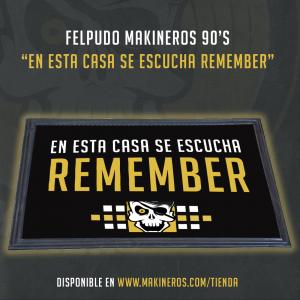 felpudo alfombrilla remember makineros 90