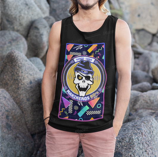 Camiseta Makineros summer neon tirantes negra