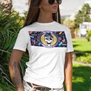 Camiseta chica neon summer blanca makineros 90