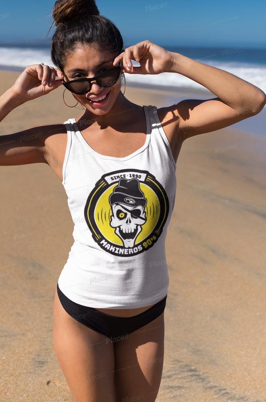camiseta makineros 90 chica tirantes basica