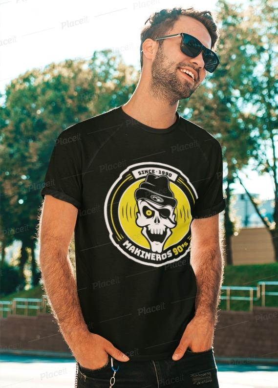 Camiseta Makineros 90 negra basic